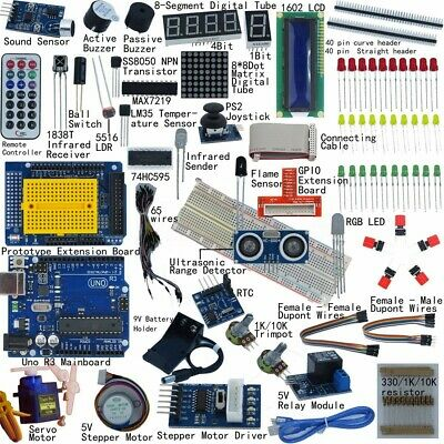 🇦🇺 Professional 32 Lessons UNO R3 Starter Kit for Arduino LCD Compass Gyro DIY