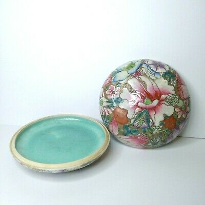 Vintage Chinese porcelain  ink pot, 20th century. There stamped.