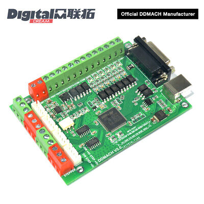 4 Axis CNC Motion Controller 125Khz for Mach3 with USB Communication DDMACH V5.0