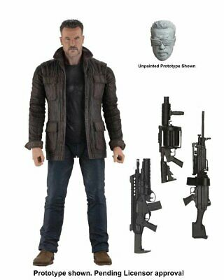 NECA 7'' Scale Terminator Ultimate Police Station Assault T-800 Action Figure