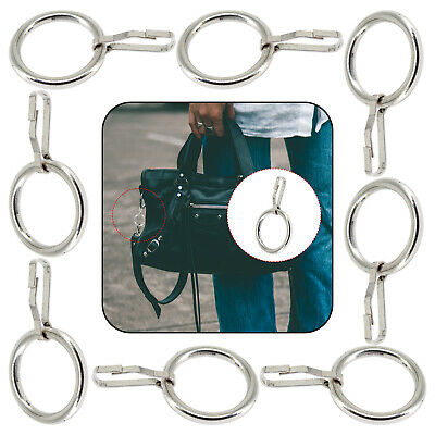 Silver 19mm O-Ring Metal Buckle Hook Bag Straps Clasp Glove Snap Hook Key Hanger