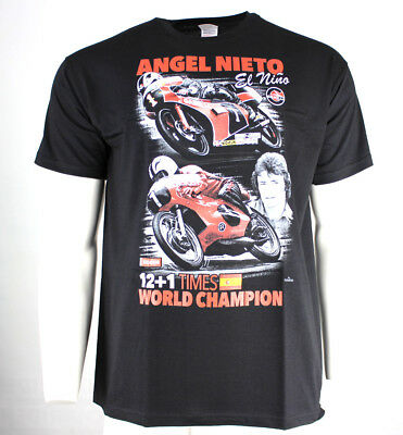 """Marco /""""Crazy Horse/"""" Luchinnelli /""""500cc World Motorcycle Champion/"""" T-SHIRT L"""