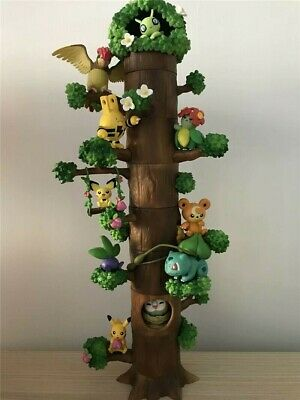 8PCS/Set Animation Pokemon Miniature Forest Tree Collection Figures Toy GIFT
