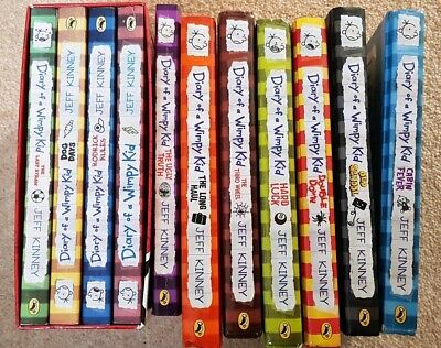 Diary of a Wimpy Kid Collection x 11 Books: 6 hardback Set by Jeff Kinney