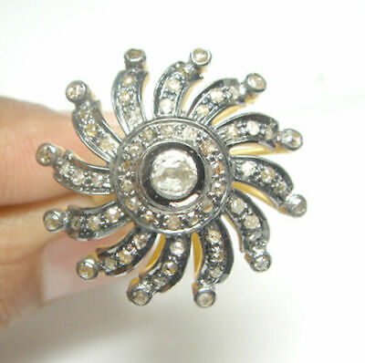 Lovely Victorian Style 1.88 cts Antique Rose Cut Diamond Ring Free Shipping
