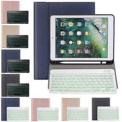 """For iPad 10.2"""" 7th Generation 2019 Slim Keyboard Leather Case with Pencil Holder"""