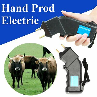Electric Hand Prod Cattle Beef Prodder Farm Battery Powered Sheep Cow Pig Animal