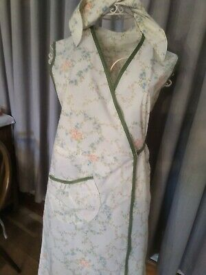 WAR TIME 1940's STYLE WRAP  PINNY, RE- ENACMENT, THEMED EVENTS  (16/18)