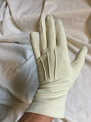 Vintage 1960s ST MICHAEL Cream Nylon Wrist Gloves Size 7