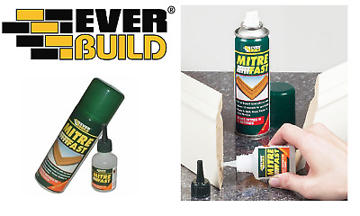 EVERBUILD MITRE FAST SUPERGLUE 50g & ACTIVATOR 200ML SUPER GLUE BONDING KIT
