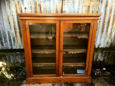 Victorian Walnut Two Door Glazed Bookcase