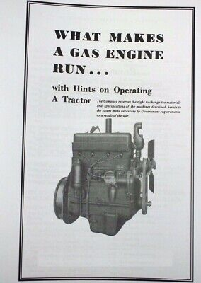 "International Harvester ""What Makes an Engine Run"" Gas Engine Farmall Booklet"