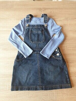 Girls Dungarees Skirt And Top Outfit Age 5 Years