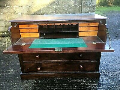 Victorian Mahogany Secretaire Chest Of Drawers