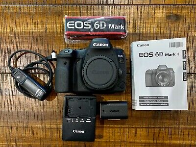Canon EOS 6D Mark II 26.2MP Digital SLR Camera - Black (body only).