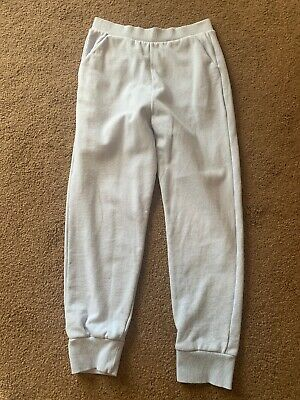 River Island Girls Pale Blue Jogging Bottoms Age 9-10 Years