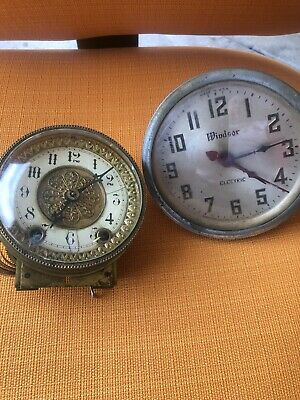 French clock movement Lot Of 2 Very Old Clock Not Much Information
