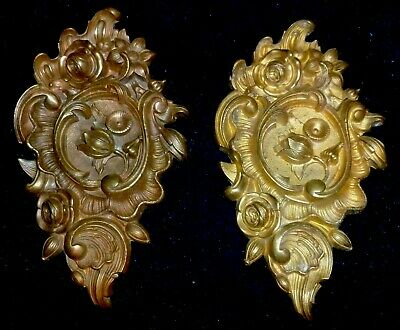 Two Superb Antique French Ormolu Hook Covers / Embellishments/ Pediments/ Mounts