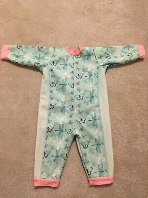 Girls Baby Splash About Warm In One Swimsuit Wetsuit XL 12-24 Months Butterfly
