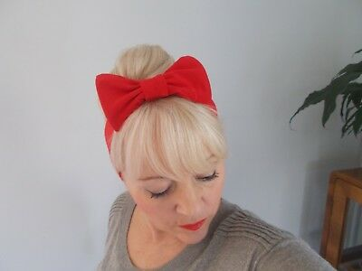 HEADBAND HAIR BAND 1 red/ 1 black/ 1 leopard...  large bow set