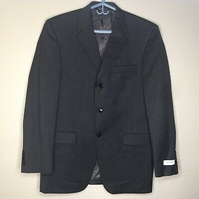 Claiborne Men's Charcoal Gray 3 Button Blazer Sport Coat Suit Jacket 40 $275 New