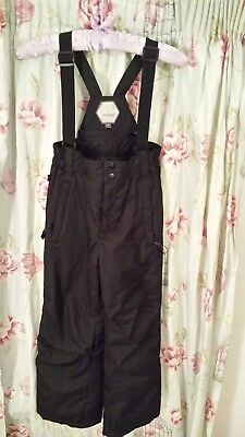 Children's Snow & Ski Dungaree Trousers Snowboarding Snowproof 7-8yrs Excellent