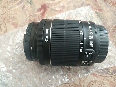 Canon EF-S 8114B002 18-55mm f/3.5-5.6 STM IS Lens-Filter Included-NWOB-MINT