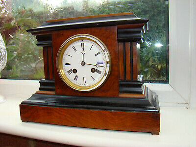 Henri Marc Paris 8 day mantel clock strike on a bell original pendulum GWO