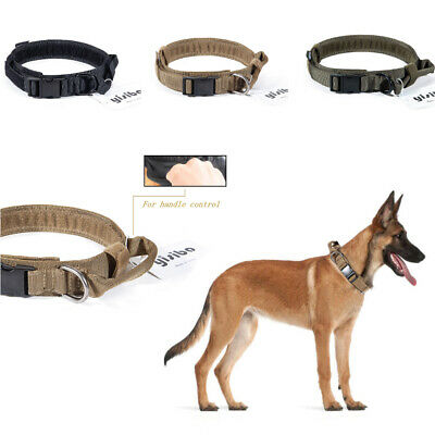 K9 Tactical Dog Collar Military Training Adjustable Heavy Duty Metal Buckle