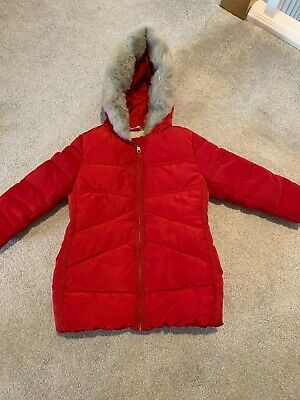 Girls Red Coat With Hood, Next, Age 2-3