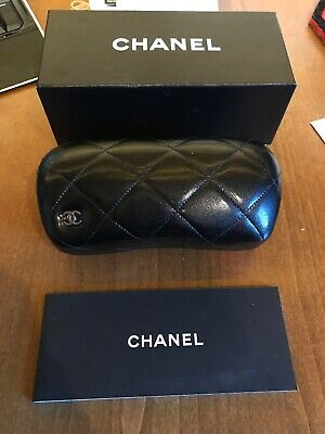 Chanel Glasses Black Quilted Hard Case with Original Box