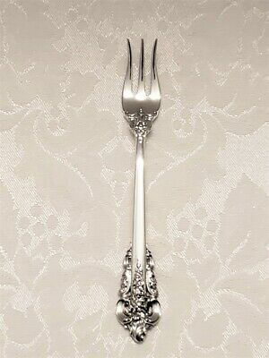 "Wallace Grande Baroque Sterling Silver Cocktail/Seafood Fork, 5-3/8"", No Monos"