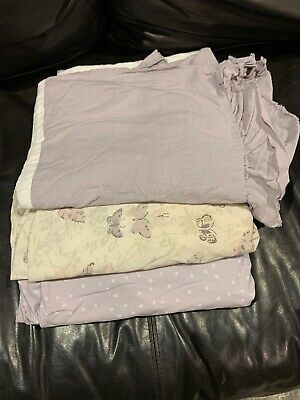 Restoration Hardware Purple Baby Bedding - Bed Skirt & 2 Fitted Sheets