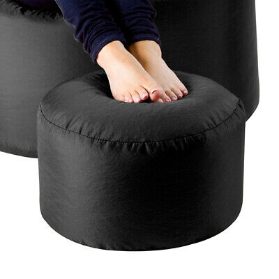 Bean Bag Footstool Indoor-Outdoor Pouffe Footrest Garden Stool