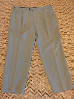 Mens Austin Reed Dress Pants Gray Pleated Front size 44 X 30