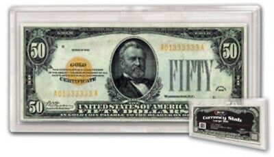 (10) Bcw Large Us Paper Money Bill Currency Slab Acrylic Holders