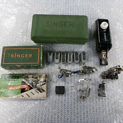 Singer Sewing Machine attachments Button Holder and More