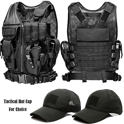 Military Vest Tactical Plate Carrier Holster Molle Army Assault Combat Gear Vest