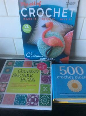 THE  Granny Squares to Crochet Pattern Book Craft Crocheting Patterns