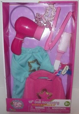 "18"" doll  over night sleep over hair accessories and gown set fits American girl"