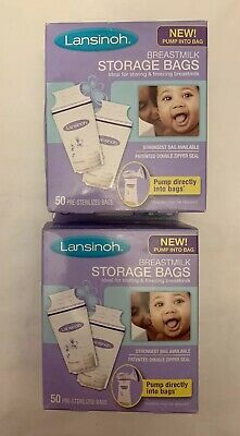 Lansinoh Breast Milk Storage Bags, Baby Feeding, 6oz - 75 Count - New