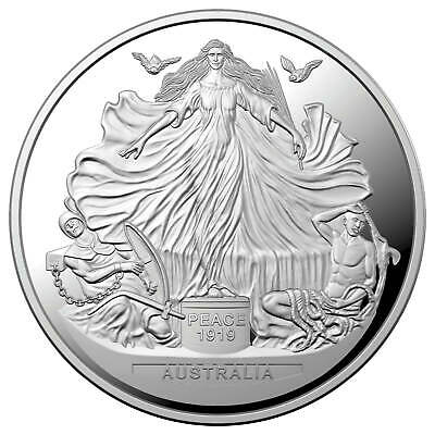 Centenary of the Treaty of Versailles 2019 $5 1oz Silver Proof Coin