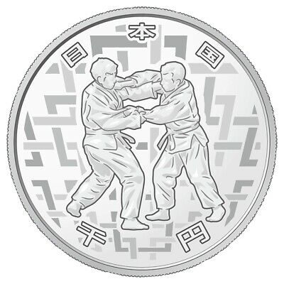 Tokyo 2020 Paralympic Games 1000 Yen Commemorative Silver Proof Coin Judo