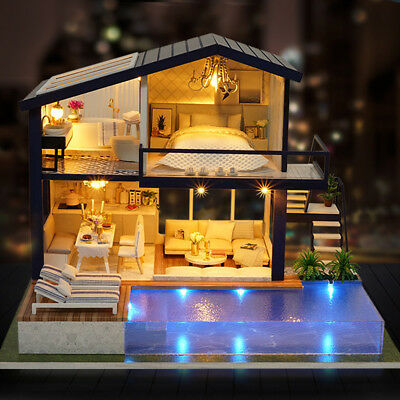 LOL SURPRISE DOLL HOUSE MADE WITH REAL WOOD - Furniture DIY HOUSE XMAS KIDS GIFT