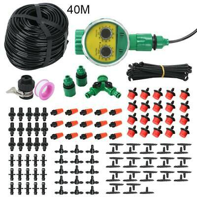 40M Micro Drip Irrigation Watering Automatic Garden Plant Greenhouse System