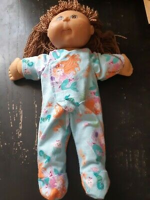 Homemade Cabbage Patch Doll Mermaid Ocean  Coverall Pyjamas