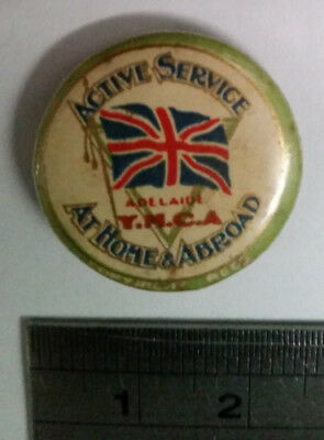 WW1 • Badge • Active Service: At Home & Abroad. YMCA Adelaide