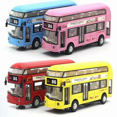 Sound Light Double-Decker Tour London City Bus Car Kid Toy Teamsterz