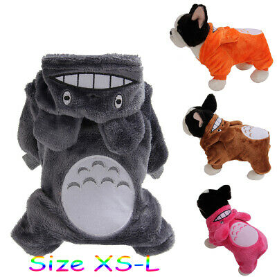 Pet Small Dog Totoro Cute Pajamas Jumpsuit Puppy Cat Clothes Hoodies Costume S L