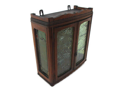 Kitchen Apothecary Bathroom Pharmacy Cabinet  Bubbled and Leaded Glass Gorgeous